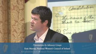Presentation by Eoin Murray - Convention on the Constitution (19/05/13)