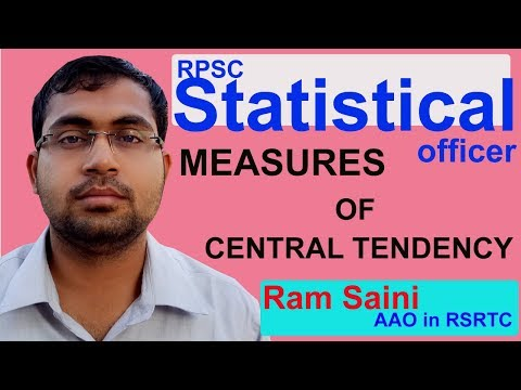Measures of Central Tendency | RPSC Statistical officer