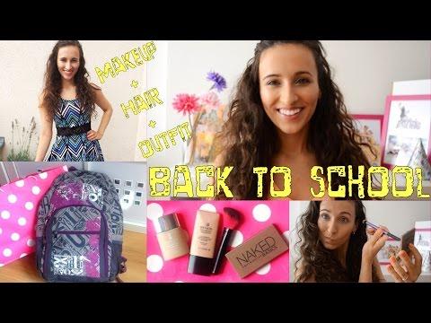 ★☆Zpátky do školy MAKEUP + HAIR + OUTFIT☆★