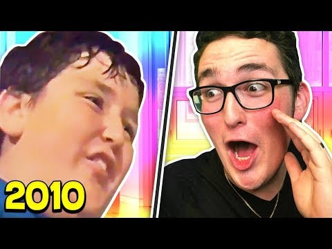 REACTING TO MY OLDEST VIDEOS ON YOUTUBE!