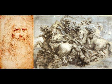 Battaglia di Anghiari di Leonardo da Vinci 1503 Palazzo ...