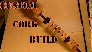 2x Fly Fishing Rod Handle Composite Cork Fly Rod Handle Grip DIY Rod Building