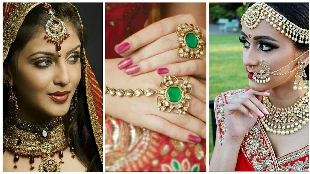 Indian Bridal Lehenga, Jewellery, hairstyles, makeup Ideas....👌 - YouTube