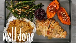 How to Make Thanksgiving Sheet Pan Dinner for Two | Recipes | Well Done