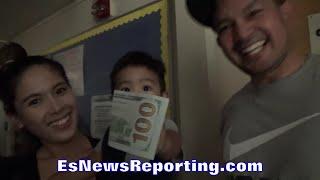 MANNY PACQUIAO REAL LIFE SANTA CLAUS GIVES BABY $100 BILL AS GIFT - EsNews Boxing