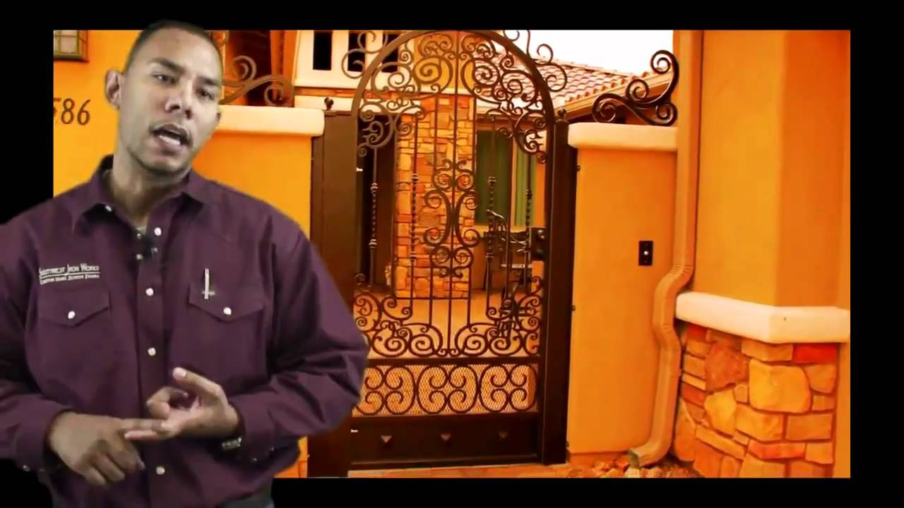 Ornamental Wrought Iron Fences And Gates In Tucson Youtube