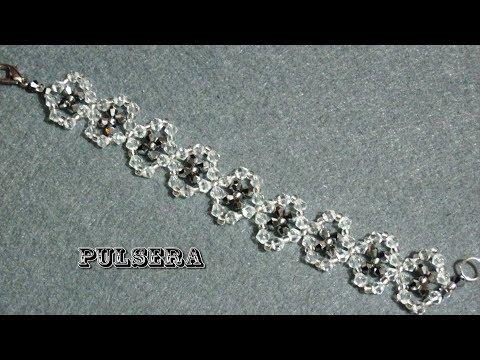 DIY - Pulsera de tupis o cristalitos facetados DIY - bracelet of faceted crystals