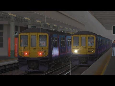 Train sim 2018 - Brighton to East croydon (Live)