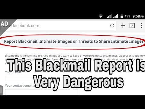 what to do if someone is blackmailing you on facebook