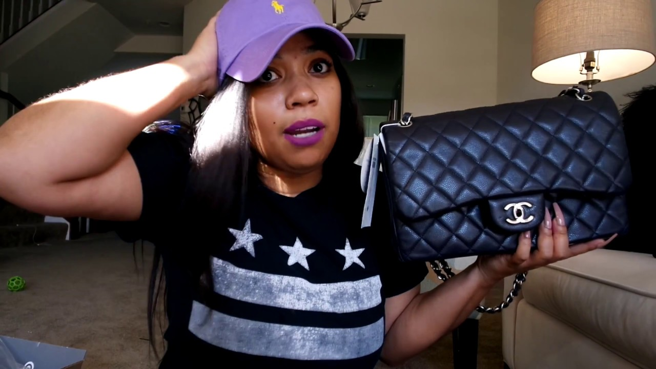 d20f70ee403d Chanel Jumbo Unboxing: Navy with Silver hardware - YouTube