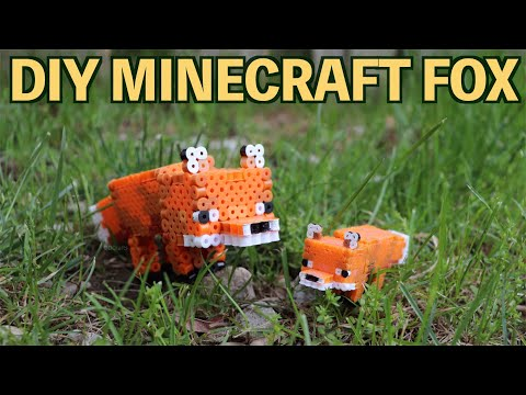 DIY 3D Perler Bead Minecraft Fox Figure