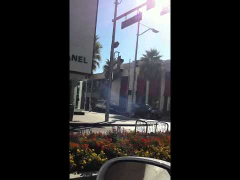 Driving in rodeo drive