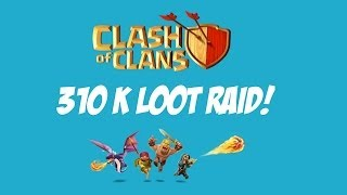 Clash of Clans Townhall 4: 310K Loot Raid!