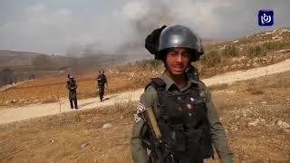 قوات الاحتلال تزيل البؤرة الاستيطانية من أراضي قرية ترمسعيا - (30-10-2019)
