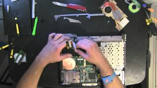 IBM T43 take apart, disassemble, how to open disassembly