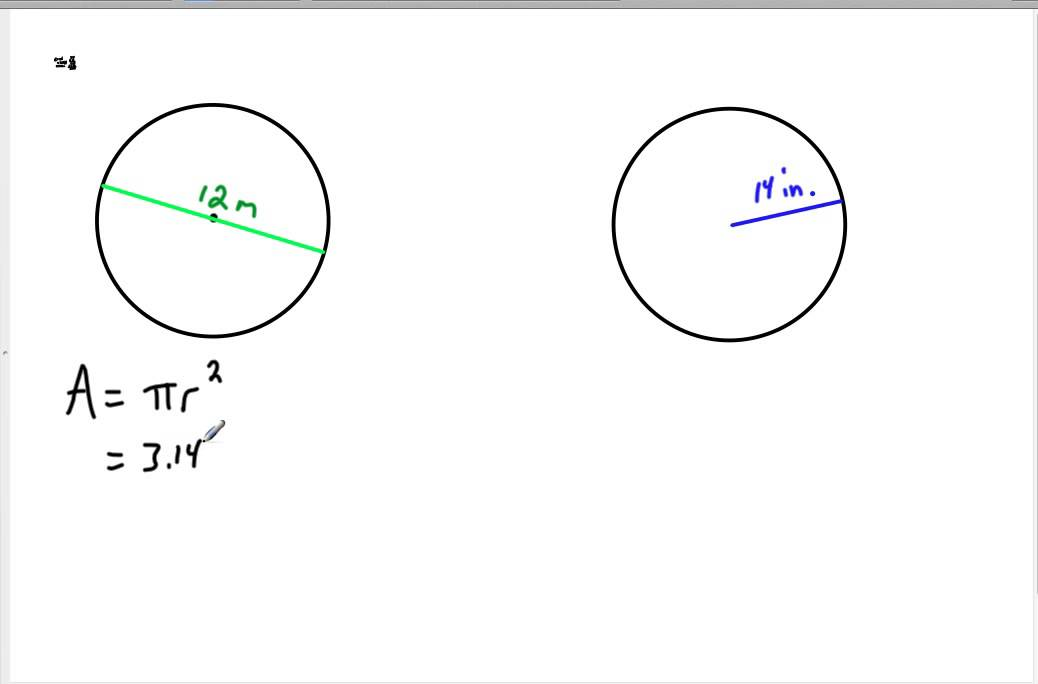 7th grade 6-5 Circumference and Area of a Circle.mp4 - YouTube