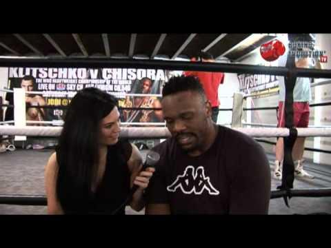 Monica Harris interviews Derek Chisora ahead of his fight with Vitali Klitschko