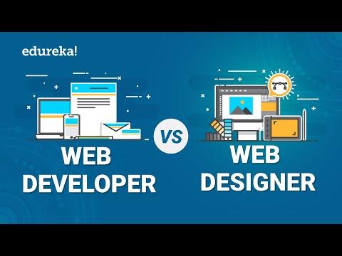 Web Developer Vs Web Designer | Difference Between A Web Developer And Web Designer | Edureka
