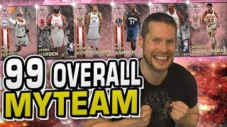 99 OVERALL MYTEAM! BEST POSSIBLE TEAM! NBA 2K18