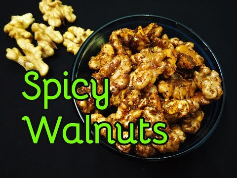 Roasted Spicy Walnuts recipe | Walnut snack