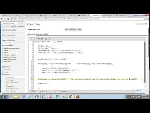 Sending Email using Apex & Visualforce in Salesforce | by Jeet Singh