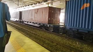 컨테이너화물열차 동대구역 대기
