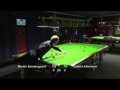 DM Snooker 2016/17   Martin Søndergaard - Gilbert Albertsen   Semifinale   14/5-2017