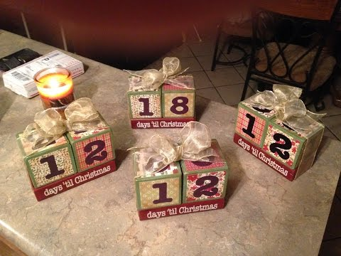 Vintage Inspired Christmas Countdown Blocks