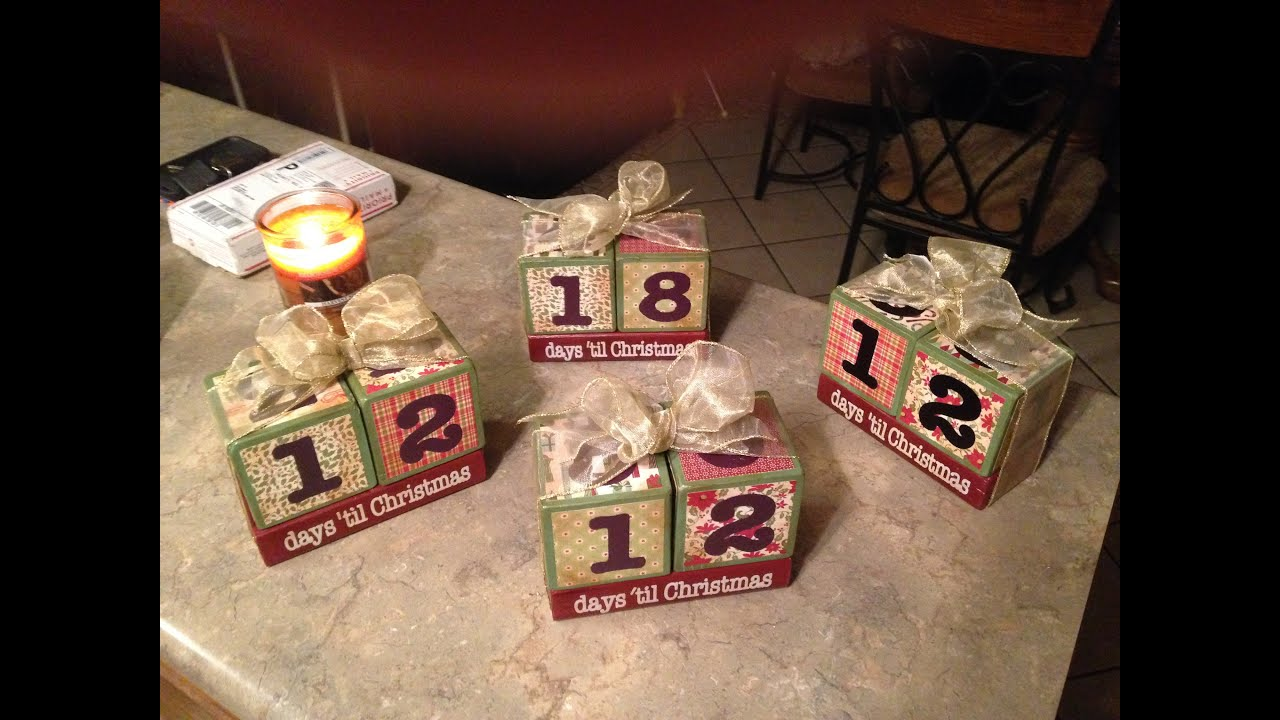Vintage Inspired Christmas Countdown Blocks - YouTube