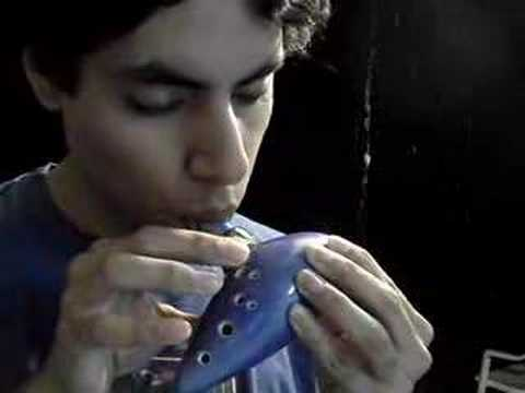 Song Of Storms On Ocarina (12-Hole)