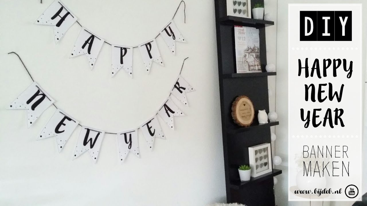 diy happy new year banner maken youtube