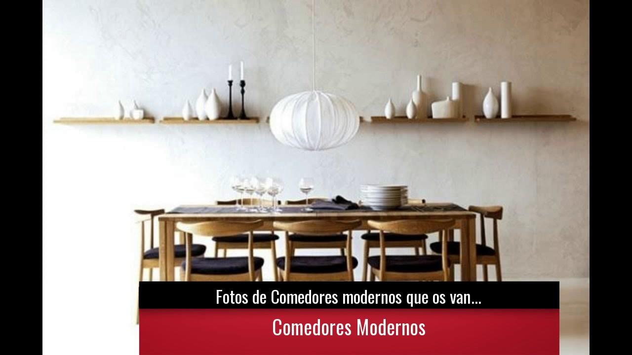Fotos de comedores modernos que os van a encantar youtube - Fotos de comedores modernos ...