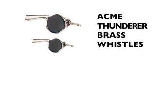 Acme Thunderer Brass Whistles