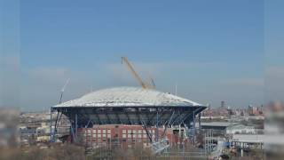 US Open Arthur Ashe Stadium Roof Time-lapse 2016