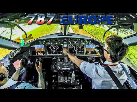 Flying the BOEING 787 across Europe with a Pilot Instructor