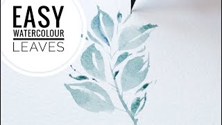 EASY Watercolour Leaves Tutorial #shorts