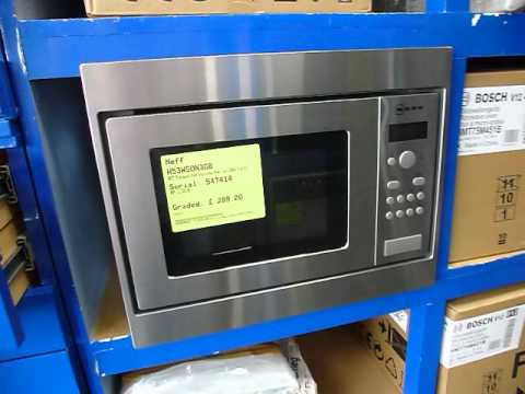 Neff H53w50gbn3 Built In Wall Unit Microwave Oven Youtube