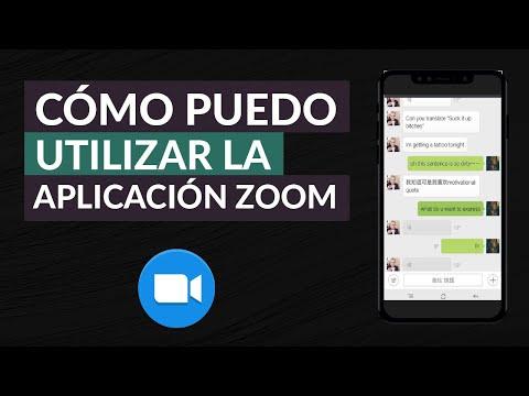 Cómo Puedo Usar o Utilizar Zoom - App para Videollamadas