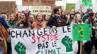 Youth Climate Strike demonstration in Montreal, March 15, 2019