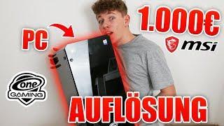 1.000 EURO GAMING PC GEWINNSPIEL AUFLÖSUNG! Hast du gewonnen ? (powered by OneGaming & MSI)