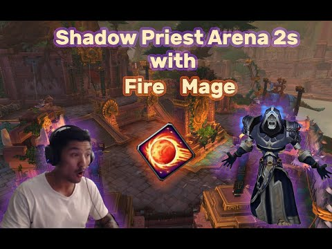 When I Almost Died to a Healer 1v1 - Shadow Priest PvP Arena 2s with Fire Mage - WoW BFA 8.2