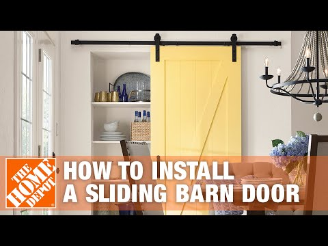 How to Install a Sliding Barn Door | The Home Depot