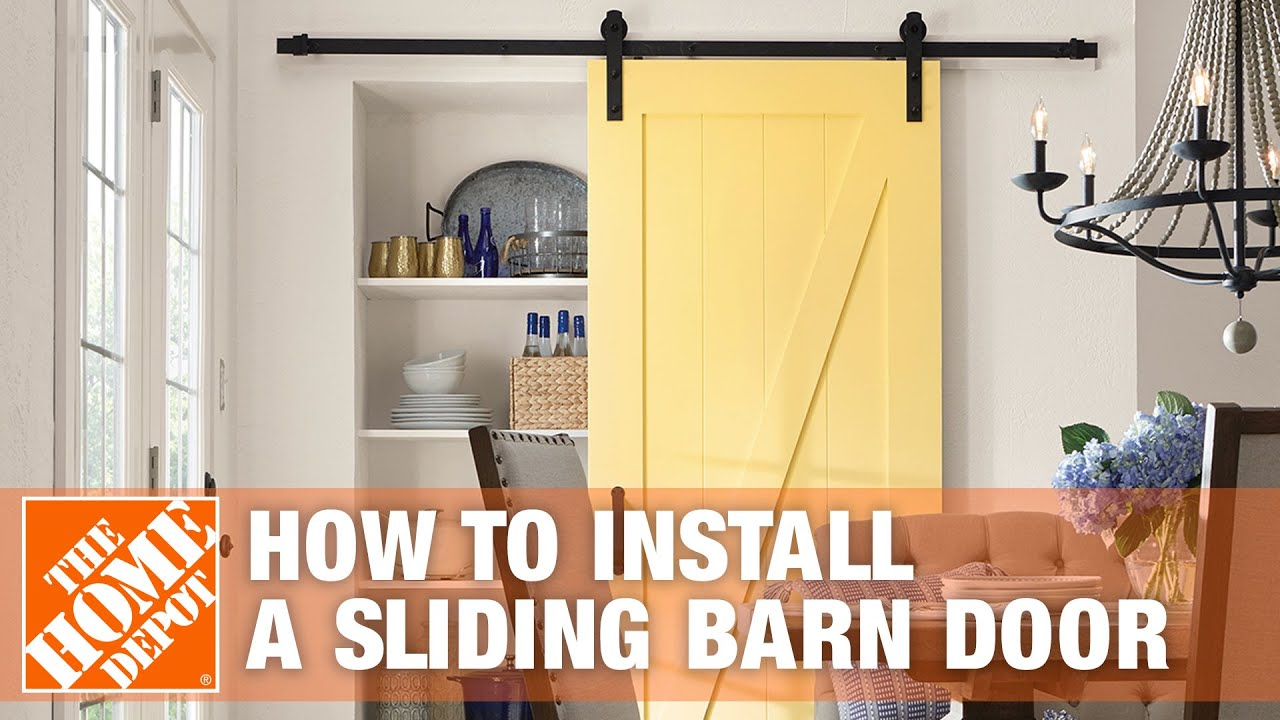 how to install a sliding barn door the home depot