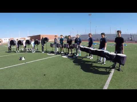 Hebron High School Drumline 2019 Battery View - 1001 Nights