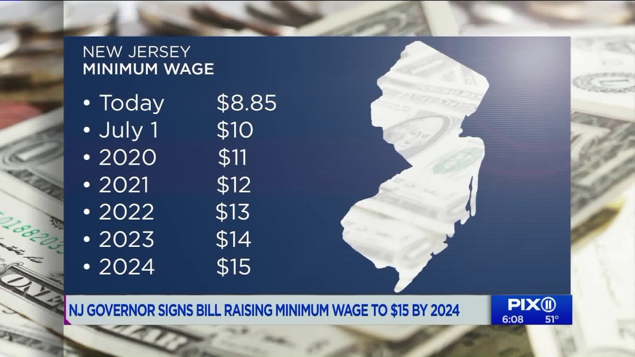 New Jersey Minimum Wage 2020.New Jersey S Minimum Wage To Rise To 15 By 2024 After Gov