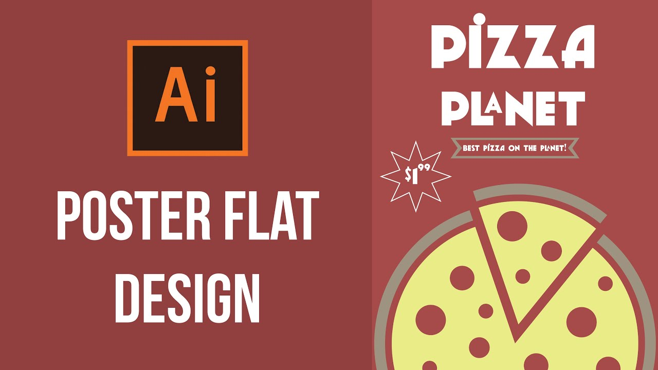 Design poster the best - How To Make A Poster Illustrator Tutorial Pizza Poster Flat Design Youtube