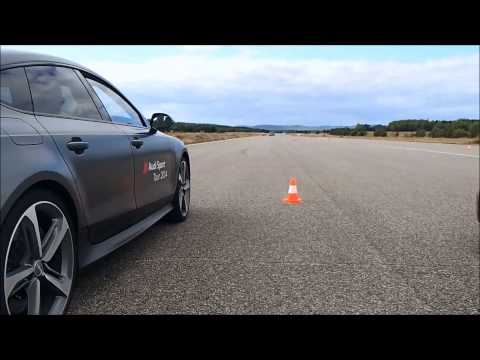 All 2014 Audi RS models together in slalom course,hard acceleration and more
