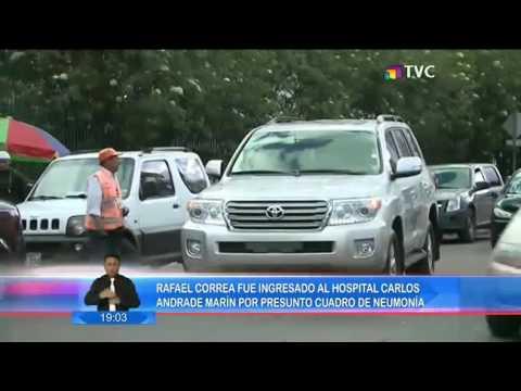 Rafael Correa ingresó al Hospital Carlos Andrade por un cuadro de neumonía