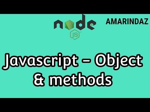Javascript Object Methods and Properties - Node JS tutorial for beginners thumbnail