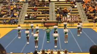 huguenot high school cheerleading 3a east regional competition 2014